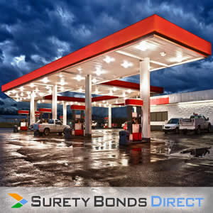 Gas Station. Fuel Tax Bond for businesses that use, sell, distribute, or mix motor fuel.