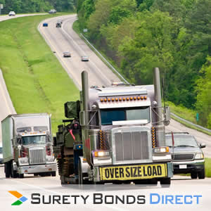 Truck. Overweight or Oversize Permit Bond for overweight or oversized vehicles to legally operate on public highways.