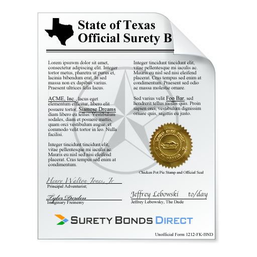 Texas Certificate Of Title Bond Surety Bonds Direct