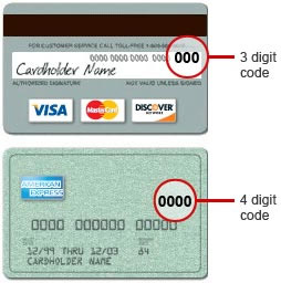 Card Verification Number Example